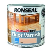 Ronseal Diamond Hard Floor Varnish Clear Satin 2.5l (32583)