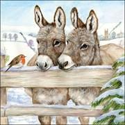 Ambiente Napkin Donkeys (33310495)