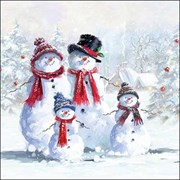 Ambiente Napkin Snowman With Hat (33313435)