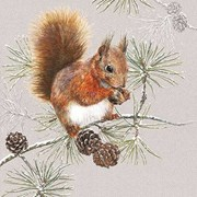 Ambiente Napkin Squirrel In Winter (33313445)