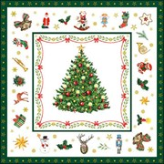 Ambiente Napkin Christmas Evergreen White (33314515)
