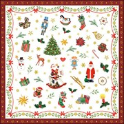 Ambiente Napkin Ornaments All Over Red (33314765)