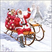 Ambiente Napkin Santa On A Sledge (33315280)