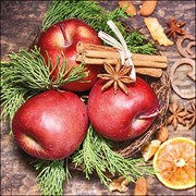 Ambiente Napkin Winter Apples 33cm (33315300)