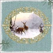Ambiente Napkin Elegant Deers Green (33315440)