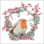 Ambiente Napkin Robin In Wreath (33315535)