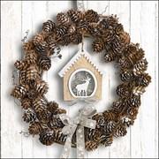 Ambiente Napkin Pine Cone Wreath (33315650)