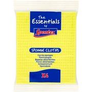 Spontex Essentials Sponge Cloth 4s (34000076)