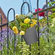"""Smart Garden Fence And Balacony Hanging Pot - Slate 6"""" (6030300)"""