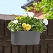 """Smart Garden Fence And Balacony Hanging Pot -slate 12"""" (6030301)"""