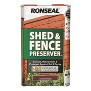 Ronseal Shed&fence Preserver Autumn Brown 5lt (37651)