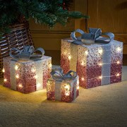 Three Kings Pink Sparkly Faux Gift Boxes Set Of 3 (2532015)