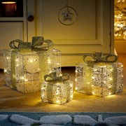 Three Kings Sil/gilt Sparkly Faux Gift Boxes Set (2532025)