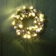 Three Kings Led Baubleberry Wreath 40cm (2541020)