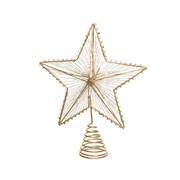 Glitter Treetopper Gold 23cm (380425)