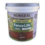 Ronseal One Coat Fence Life Dark Oak 9lt (38294)