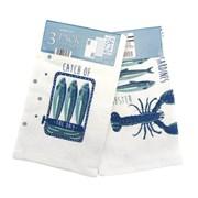 3pk Velour Kitchen Towels Fruits De Mer (KTS175671)