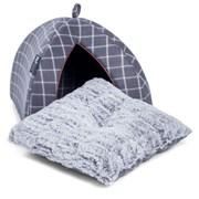 Petface Cat Bed Igloo Grey Window (40023)