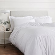 400tc Cotton Sateen Duvet Set White Single (BD/53098/R/SQS/WH)