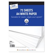Just Stationery A4 Paper 75sheets 75s (4146/48)