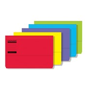 Foolscap Document Wallet Assorted Bright (42510DENT)