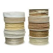 Cord Ribbon 10 Asstd Cream (440140)