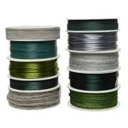 Cord Ribbon 10 Asstd Green (440141)