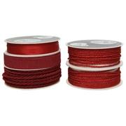 Cord Ribbon 10 Asstd Red (440142)