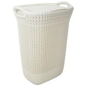 Curver Knit Laundry Hamper Oasis White 57ltr (228391)