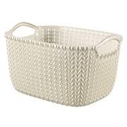 Curver Knit Rectangular Basket Oasis White 8ltr (229318)