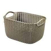 Curver Knit Rectangular Basket Harvest Brown 8ltr (229315)