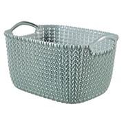 Curver Knit Rectangular Basket Misty Blue 8ltr (230010)