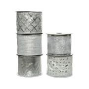 Ribbon w Wire Silver 270cm (445317)