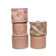 Ribbon w Wire Blush Pink 5 Asst 270cm (445333)