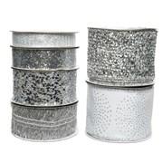 Polyester Ribbon White/silver Asst (445373)