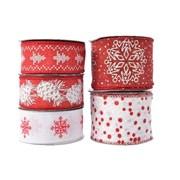 Polyester Ribbon Red/white Asst (445374)