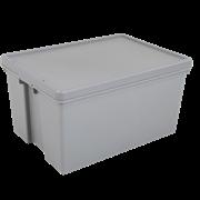 Wham Heavy Duty Box & Lid Grey Upcycled 62ltr (445600)