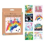 Kids Birthday Cards Box 8s (4490)