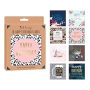 8 Adult Birthday Card Box 8s (4491)