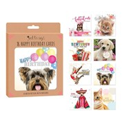 8 Birthday Card Mixed Pets Box 8s (4493)