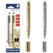 Staedtler Gold & Silver Marker Pens (8323-S BK2)