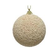 Foam Bauble w Glitter Beads Pearl 8cm (45.2845)