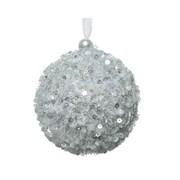 Bauble  Sequins  Silver 8cm (457542)