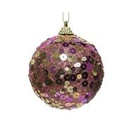 Bauble w Sequins Velvet Pink 8cm (457639)
