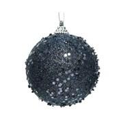Foam Bauble Glitter Night Blue 8cm (457647)