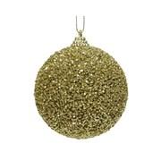 Foam Bauble w Glitter Bead Light Gold 8m (457668)