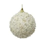 Foam Bauble Beads Wool White 8cm (457685)