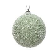 Foam Bauble w Tinsel Sage Green 8cm (457821)