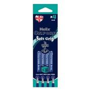 Oxford Soft Grip Pens-blue 4 Pk (227010)