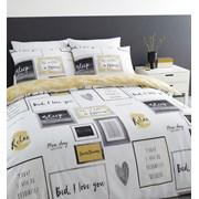 Sleep Dreams Duvet Set Ochre Double (BD/48852/W/DQS/OC)